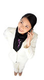 Smiling attractive businesswoman on phone Stock Photo