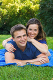 Smiling attractive couple Royalty Free Stock Photo