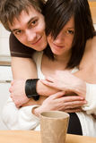 Smiling attractive couple Royalty Free Stock Image