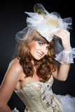 Smiling attractive girl in romantic costume Royalty Free Stock Image