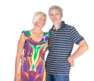 Smiling attractive middle-aged couple Royalty Free Stock Photography