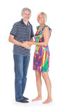 Smiling attractive middle-aged couple Royalty Free Stock Image
