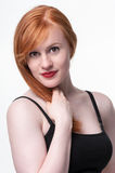 Smiling attractive redhead Stock Image