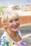 Smiling attractive senior woman Stock Image