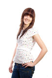 Smiling attractive woman Royalty Free Stock Photos