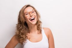 Smiling attractive woman Stock Photography