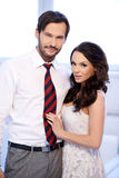 Smiling attractive young couple Stock Photo