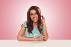 Smiling young Latino woman Royalty Free Stock Photography
