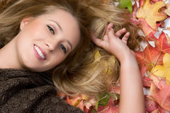 Smiling Autumn Girl Stock Photo