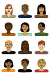 Smiling Avatars Pack Royalty Free Stock Images