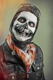 Smiling Aviator Skull Paint Royalty Free Stock Photo