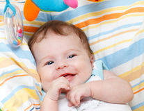 Smiling baby. Portrait of smiling baby girl Royalty Free Stock Image