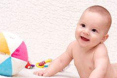 Smiling baby Stock Image