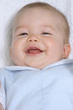 Smiling baby. Boy royalty free stock images
