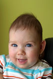 Smiling baby. Baby girl smiling Royalty Free Stock Photos