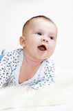 Smiling baby age of 3 months Royalty Free Stock Image
