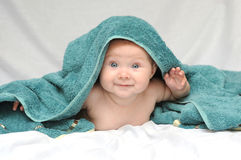 Smiling Baby after Bath Royalty Free Stock Photo