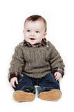 Smiling baby boy stock photography