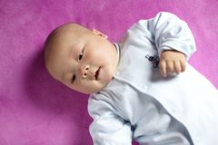 Smiling baby boy Stock Image