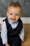 Smiling baby boy. Happy smiling baby boy in suit Stock Photography