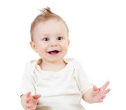 smiling baby boy isolated Royalty Free Stock Image