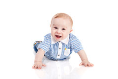 Smiling baby boy Stock Photo