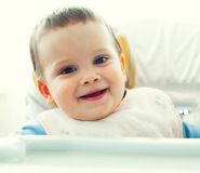Smiling baby boy Royalty Free Stock Photography