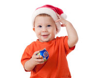 Smiling baby with Christmas decoration Royalty Free Stock Image