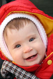 Smiling baby close-up portrait Royalty Free Stock Image