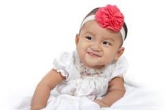 Smiling baby crawl Stock Images