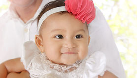 Smiling baby face royalty free stock photography