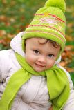 Smiling baby girl closeup portrait Royalty Free Stock Images