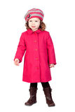 Smiling baby girl with pink coat Stock Image