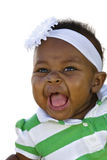Smiling Baby Girl on white Stock Photography