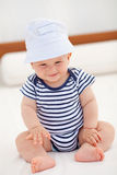 Smiling baby with hat Stock Photo