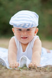 Smiling baby with hat Royalty Free Stock Image