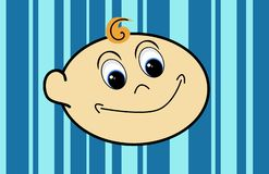 Smiling Baby Head stock illustration