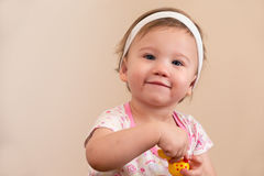 Smiling Baby Looking Royalty Free Stock Photos