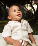 Smiling baby outside Royalty Free Stock Photography