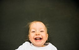 Smiling baby portrait Royalty Free Stock Photography