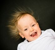 Smiling baby portrait Royalty Free Stock Images