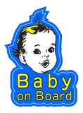 Smiling Baby vector image. Excellent for web usage and car stickers Royalty Free Stock Photography