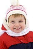 Smiling baby in winter outerwear Royalty Free Stock Images