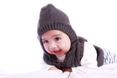 Smiling Babys Portrait. Isolated against white background Stock Photography