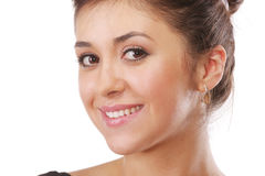 Smiling backcombed brunette Royalty Free Stock Images