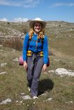 Smiling backpacker girl Royalty Free Stock Image