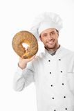 Smiling baker Royalty Free Stock Image