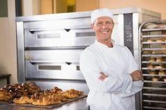Smiling baker looking at camera Stock Image