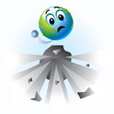 Smiling ball. As Earth in danger Royalty Free Stock Photo