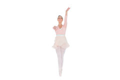 Smiling ballerina with her arms extended Royalty Free Stock Photos